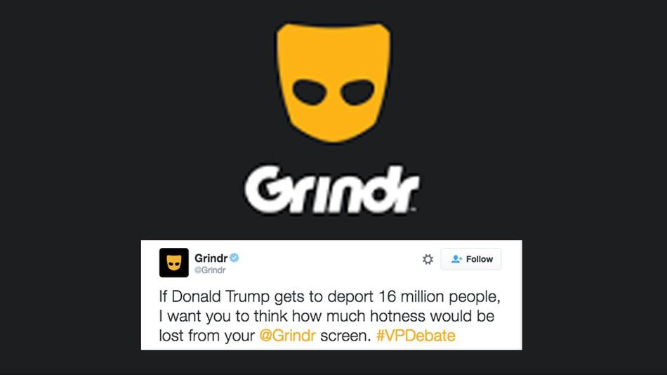 Grindr Debate Trump