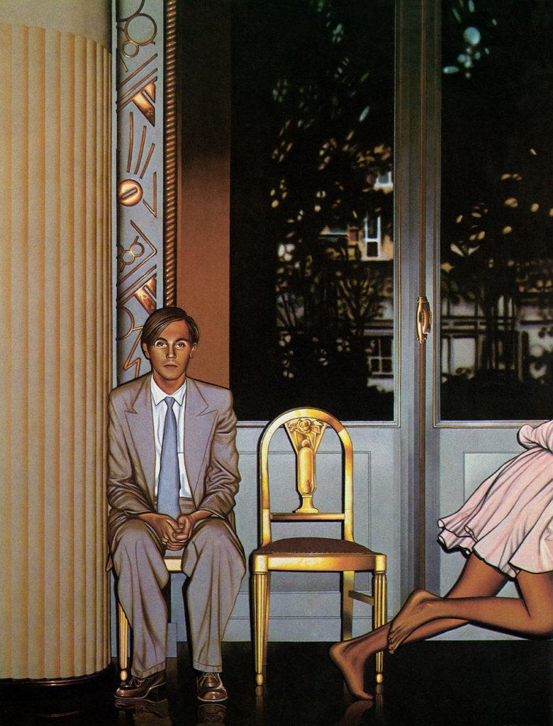 Philippe Morillon Autoportrait dans la galerie, 1975