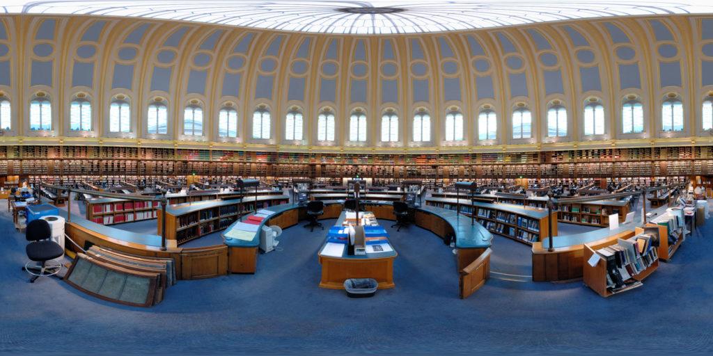 La grande salle de lecture circulaire du British Museum