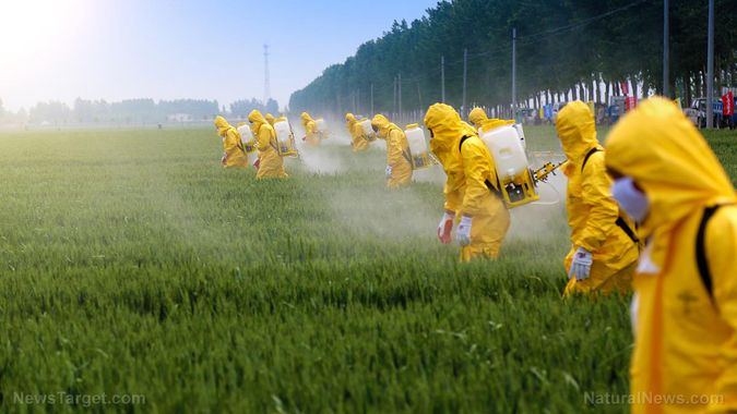 Epandage de pesticides - Crédit : Natural News