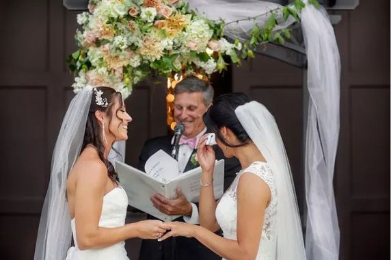 Un élégant mariage LGBT