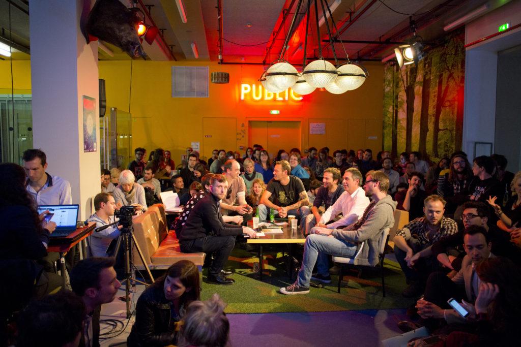 Photographie de l'un des nombreux évènements organisés autour du design par Designers Interactifs